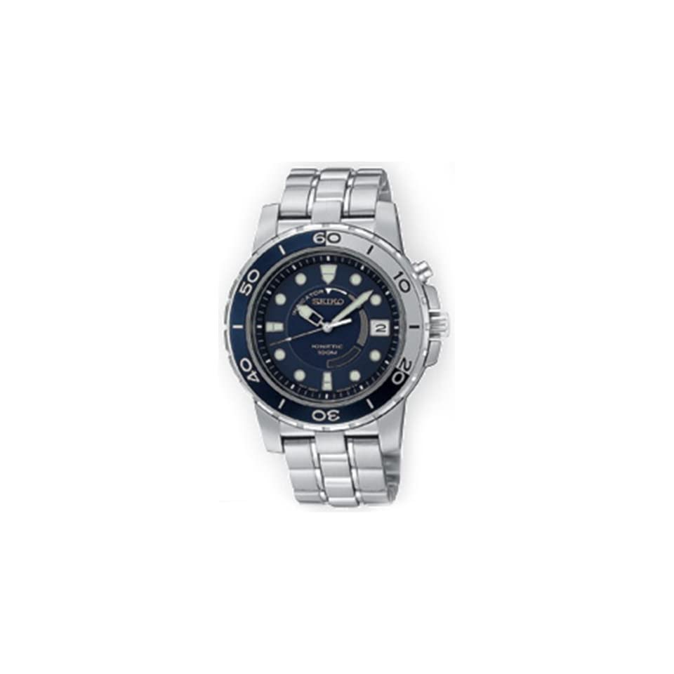 Seiko Mens SKA387 Kinetic Silver Tone Watch
