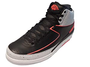 Nike Air Jordan 2 Retro II 'Infrared 23' Pure Platinium/Infrared 23/White/Black 385475-023 (SIZE: 10.5)