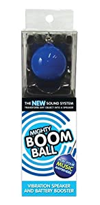 Mighty Boom Ball Blue Vibration Speaker - Battery Booster Edition