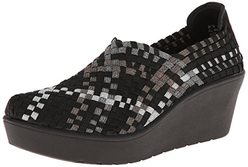 STEVEN by Steve Madden Women's Betsi Mule, Metallic/Multi, 6