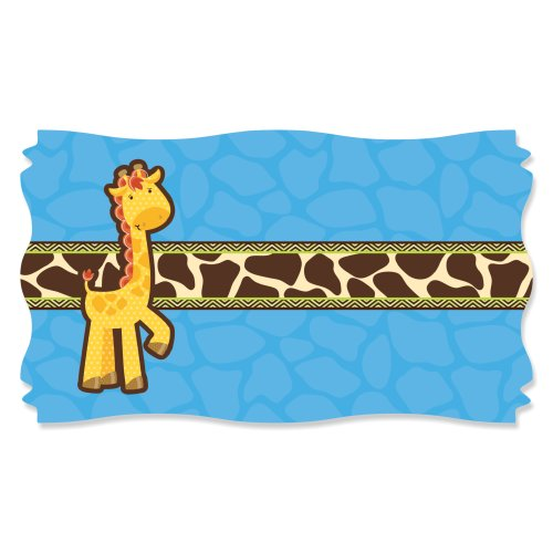 Giraffe Boy - Large Party Favor Stickers (Name Tag Size - Set Of 8) front-692492
