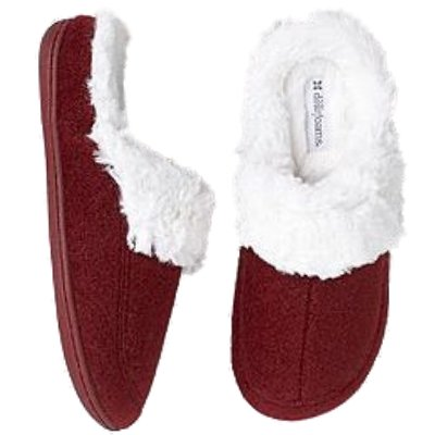 Image of Womens Dearfoams Red Boiled Wool Clogs Slide on Fur Lined Slippers Medium 7-8 (B005KJJ0N4)
