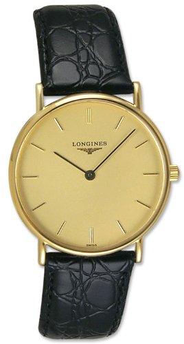 Longines Presence 18kt Solid Gold Mens Strap Luxury Swiss Watch Quartz L4.802.6.32.2