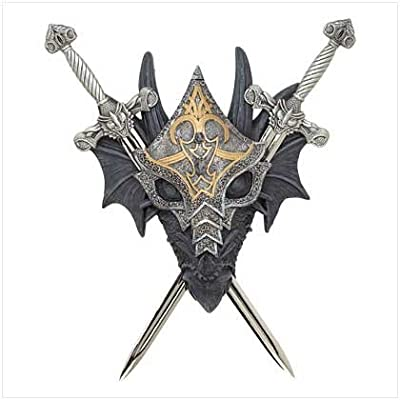 Gifts & Decor Armored Dragon Wall Crest Castle Theme Decoration Gift