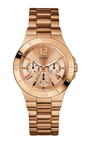 GUESS Women's U13624L1 Active Shine Multi-Function Rose Gold-Tone Sport Watch