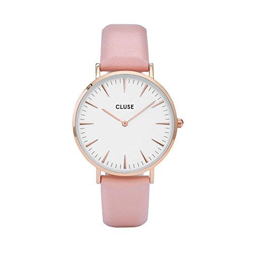 Cluse-Damen-Armbanduhr-Analog-Quarz-Leder-CL18014