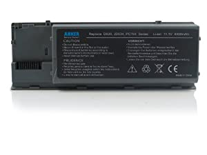 Anker® New Laptop Battery for Dell Latitude D620 D630 D630C D630N D631 D640 Series, Fits P/N PP18L RD300 RD301 PC764 TC030 TD175 - 18 Months Warranty [Li-ion 6-cell 4400mAh/49WH]
