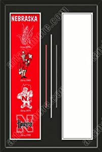 Nebraska Huskers & Your Choice of other Team Heritage Banner Framed-House... by Art and More, Davenport, IA
