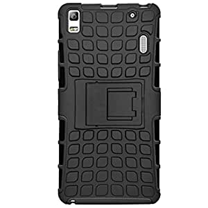 Kalgidhar eCom Rugged hock Proof Protective Rugged Armor Super Hybrid Heavy Duty Back Case Cover for Lenovo K3 Note -Black