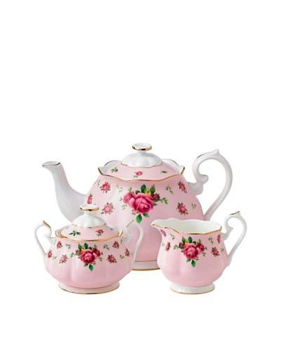 Royal Albert New Country Roses 3-Piece Tea Set, Pink