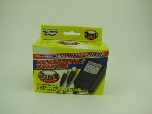 NES/SNES/GENESIS 3 IN 1 AC ADAPTER (Super Nintendo Power Adapter compare prices)