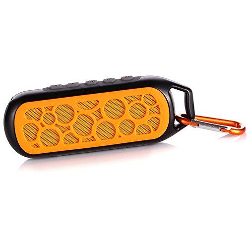 Geekbuzz Haut-parleur Enceinte Bluetooth Portable Sans Fil Etanche Extérieur Randonnée Camping Vélo Douche, Orange