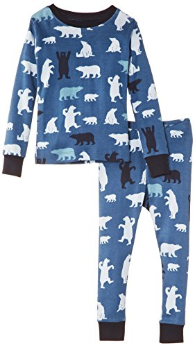 Hatley Little Boys' Pajama Set Polar Bear Boy, Blue, 2 front-471437