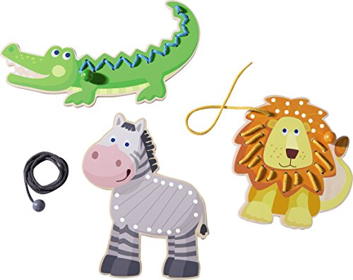 Haba 301057 Threading Animals Zoo Friends