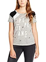 Pepe Jeans London Camiseta Manga Corta Lickle (Gris Claro)
