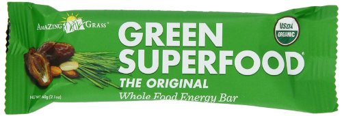 Amazing Grass Organic Green SuperFood Whole Food Energy Bar, 12-Count Bars