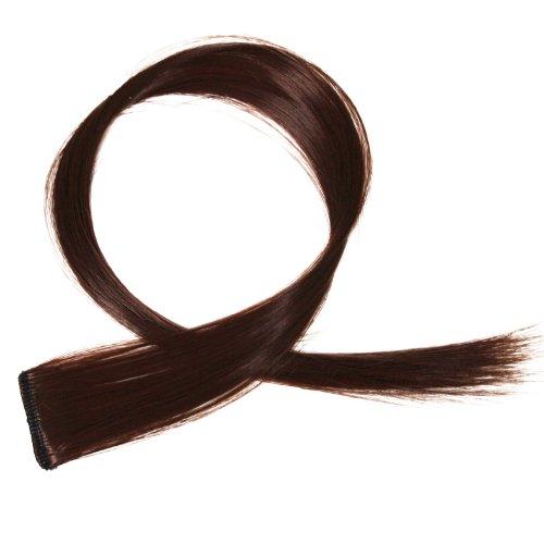 """Bunte Strähnchen 1 x Clip In Extensions 50cm (20"""") Haarverlängerung glatt langhaarHaarteil (15)"""