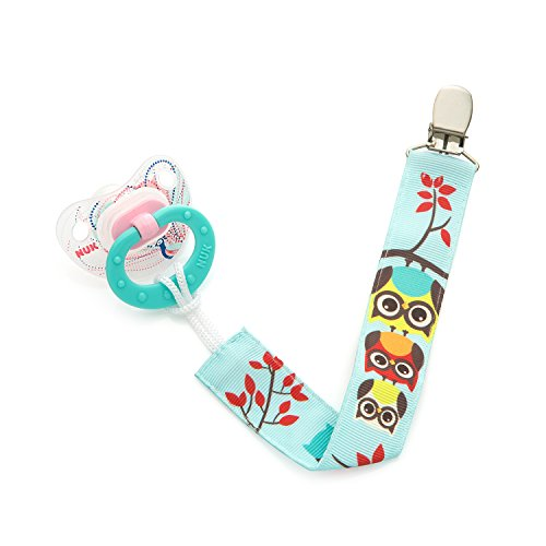 Unique Baby Toys For Girls : Pacifier clip pack unisex unique sided retro owls
