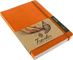 Pentalic Traveler Pocket Journal Sketch, 6-Inch by 8-Inch, Orange by Pentalic