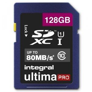 Integral INSDX128G10-80U1 128GB Ultima Pro SDXC Card UHS-I U1 Class 10 80MB/s