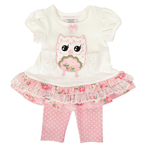 Bonnie Baby Baby-Girls Lacey Wing Sweet Owl Tunic & Leggings 24M (B12980-Ps) front-962556