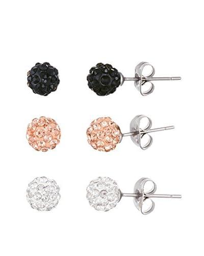 Bliss Swarovski Crystal Three Pair Earring Set