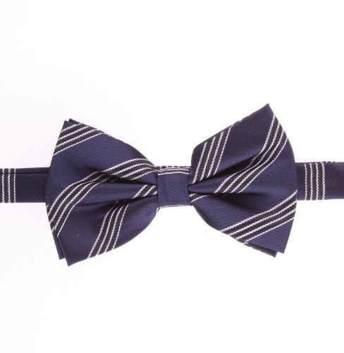 Bow Ties With Blue, Navy, Solid Color, Striped/Stripes, Design - By Jon Vandyk