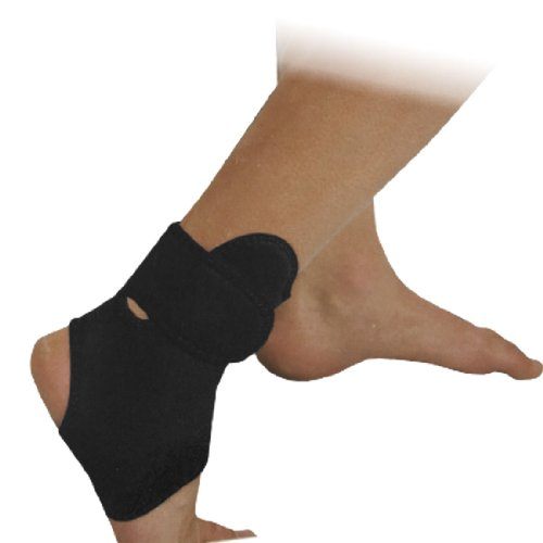 Adult Black Neoprene Stretch Protective Ankle Support Brace