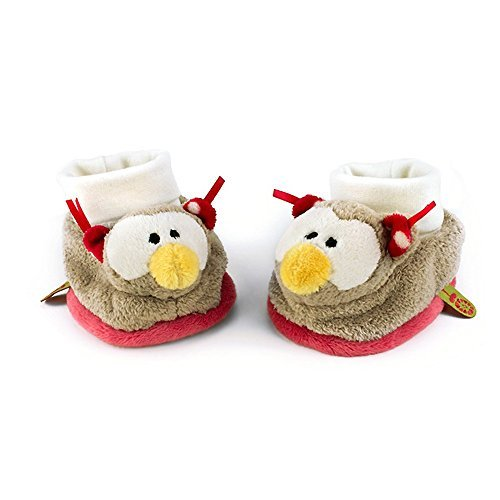 Neat-Oh My First Nici Baby Booties Owl with Rattle Plush