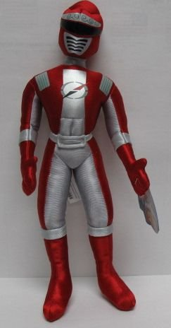 "Power Rangers Operaion Over-Drive 15"" Red Power Ranger Plush Doll"