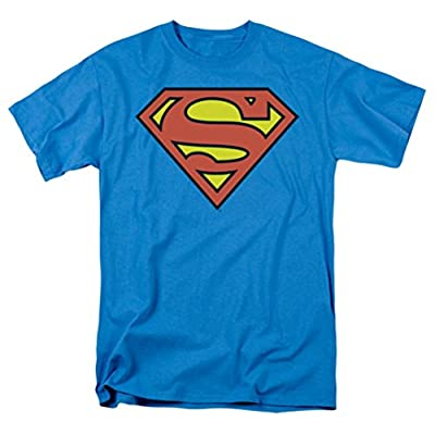 Superman Logo On Turquoise T-Shirt