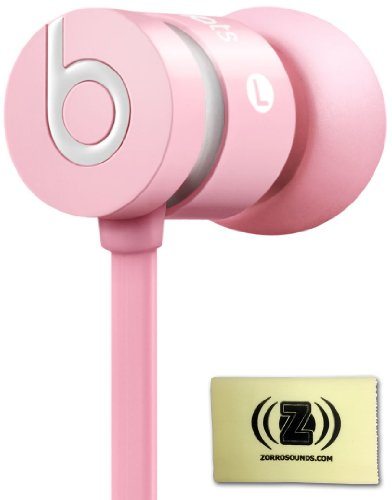 Beats By Dr. Dre Urbeats In-Ear Headphones (Pink) Bundle With Custom Designed Zorro Sounds Cleaning Cloth