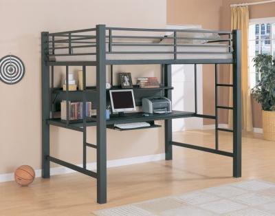Black Metal Bunk Beds 4765 front