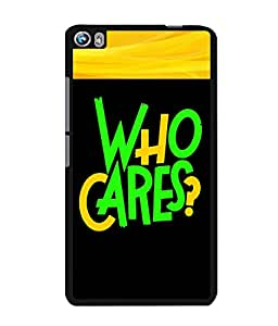 Fuson 2D Printed Quotes Designer back case cover for Micromax Canvas Fire 4 A107 - D4343