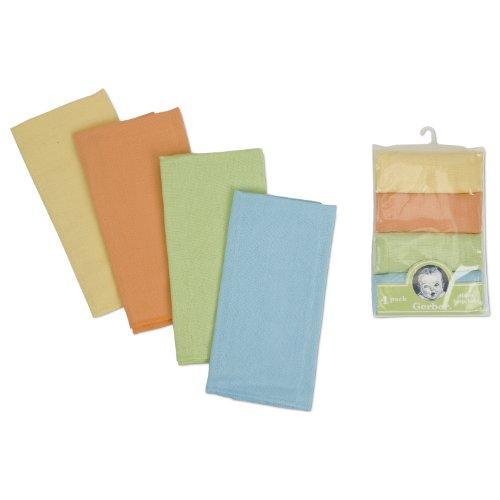 Gerber 4 Count Rolled Birdseye Prefold Diaper, Multi Color