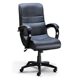 Amazon Com Executive Black Leather Office Chair W Gas