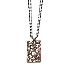 """24"""" Chocolate Plated Pendant Stainless Steel Necklace"""