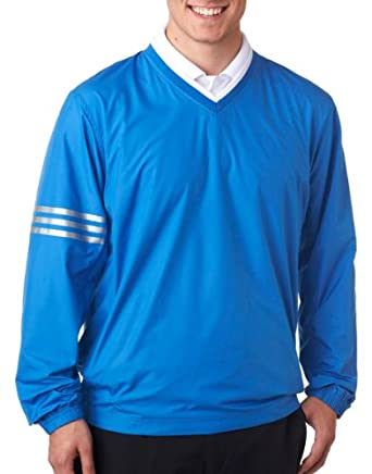 Adidas Golf Mens ClimaLite® Colorblock V-Neck Wind Shirt by adidas