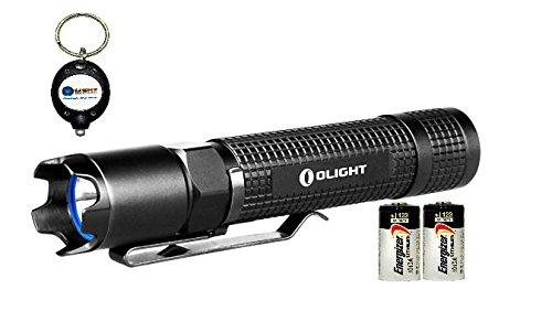 Olight M18 Maverick Cree Xm-L2 Led 500 Lumen Flashlight With 2X Energizer Cr123A And Keychain Light