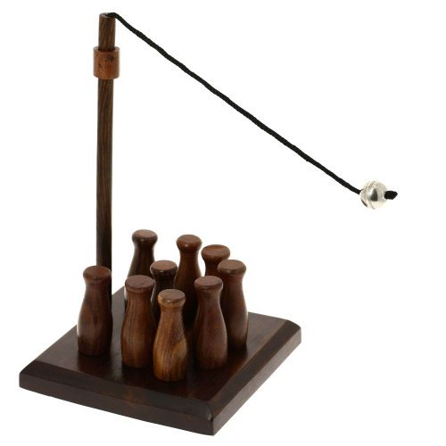 Bar Skittles Game Wooden Toys Artisan Handcrafted Gifts From India
