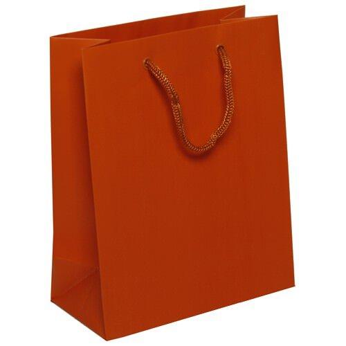 Orange Matte Gift Bags (8 x 10 x 4)- 100 bags per box