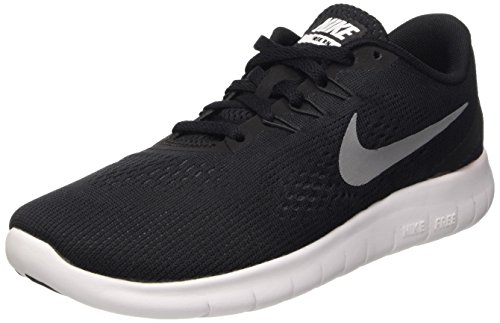 Nike Free Rn (Gs), Scarpe Running Bambino, Nero (Black/Metallic Silver-Anthrct), 37.5 EU