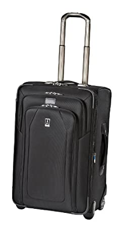 Travelpro Luggage Crew 9 24-Inch Expandable Rollaboard Suiter Bag, Black, One Size