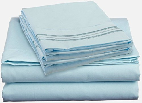 Bed Sheet Sets - Hotels Collection 2000 (New Edition) Supreme 3 Pieces Available In 15 Colors (Extra Long Twin, Aqua/Light Blue)