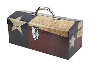 Sainty Art Works 24-080 Texas Flag Art Deco Tool Box