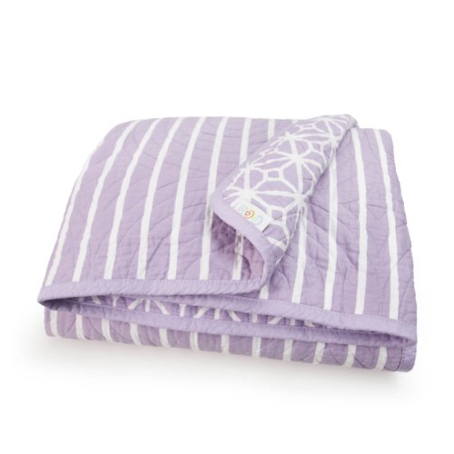 Best Price! CoCaLo Mix & Match Trellis/Candy Stripe Coverlet, Violet