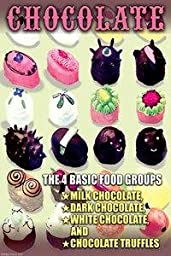 Paper poster printed on 20 x 30 stock. The 4 Basic Food Groups: Chocolate