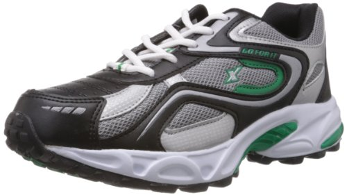 Sparx Mens Black and Green Synthetic Running Shoes - 6 UK (SM-171)