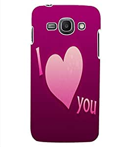 ColourCraft Love Quote Design Back Case Cover for SAMSUNG GALAXY ACE 3 S7272 DUOS