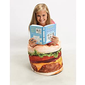 WOW Works Hamburger Junior Bean Bag from WOW Works LLC